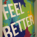W hotel mural feel better painted door