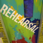 W hotel mural painted rehearsal door