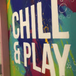 W hotel mural chill and play