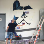 painting dogs mural