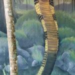 snake mural