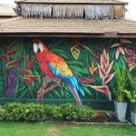 jungle parrot mural