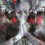 mystical woman prayer art