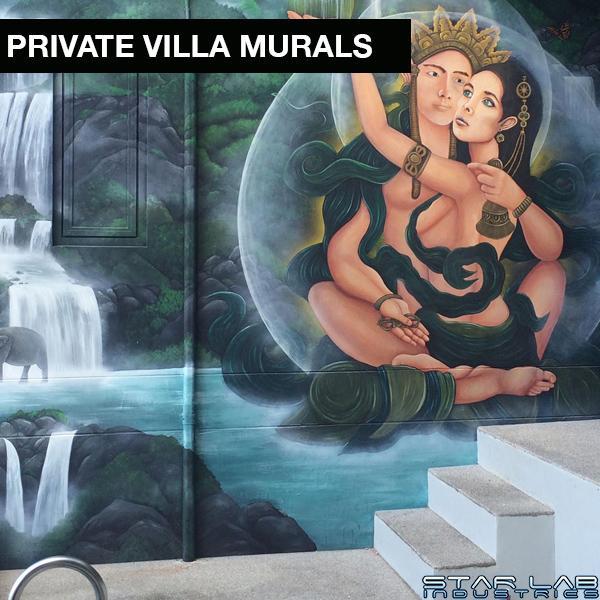 private villa murals
