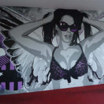 party girl mural