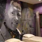 Johnny Rotten hostel wall mural