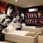 stone roses wall mural