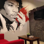 Jimi Hendrix wall mural
