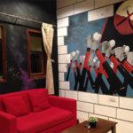 Pink Floyd hammers wall mural