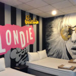 Blondie hostel wall mural