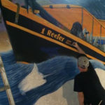 painting rough seas mural