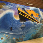 rough seas mural