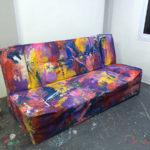 colourful sofa