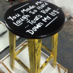 laugh so hard stool