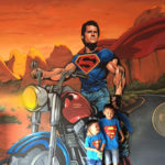 superman bike mural