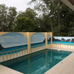 outside swimming pool walls