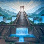 enchanted stairway mural