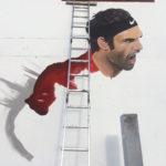 painting tennis mural