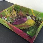 painted bird tray