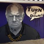 grumpy man mural