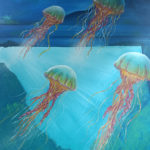jelly fish mural