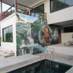 mystical couple poolside mural