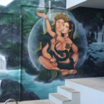 mystical couple mural
