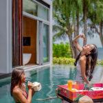 W Hotels poolside food tray